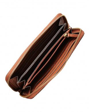 BRANDY BROWN  SAUNDERS CONTINENTAL ラウンドファスナー長財布見る