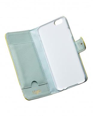 イエロー dot iPhone6用 手帳型ケース見る