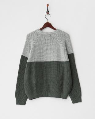 L.GRAY  バイカラービッグセーター見る