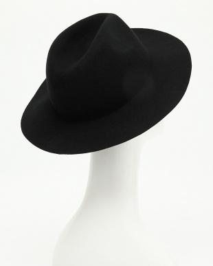 BLACK  [A]ロングブリムフェルトハット見る