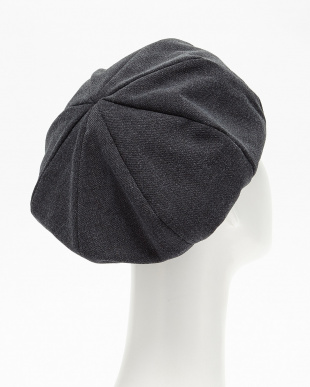 BLACK  メランジベレー帽見る