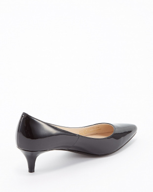 BLACK WP PATENT JULIANA PUMP 45見る