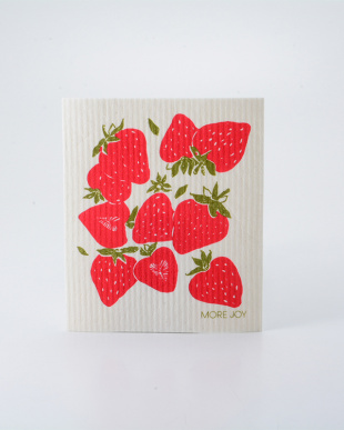 Strawberries MORE JOY フィンランド製スポンジワイプ 4枚セット見る