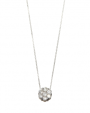 K18WG 0.3ct 天然ダイヤモンド セブンストーンペンダント見る