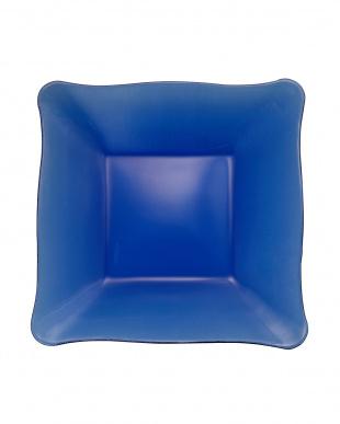 ブルー ガラスプレート 四角 2枚 セット見る