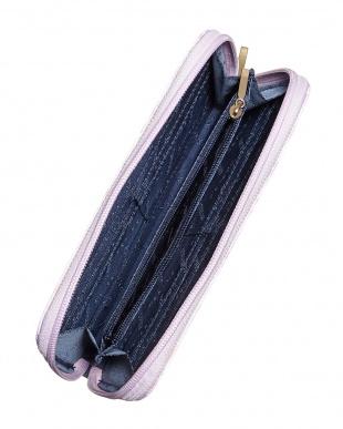 ピンク  ペイズリー 軽量財布見る