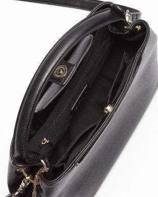 ブラック  フェイクレザーハンドバッグ見る