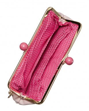 ライトピンク  がま口長財布見る