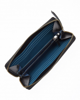 ブラック/ブルー  RF長財布・型押し見る
