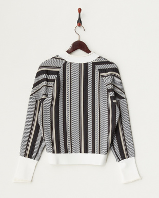 WHITE セーター dropped shoulder sweatshirt with rolled ribs見る