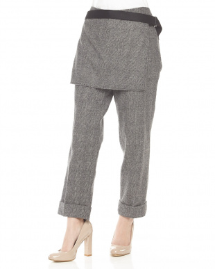 BLK-WHITE パンツ cuffed apron trouser with utility strap見る
