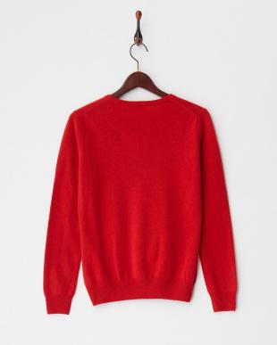 レッド  クルーネックセーター S-Lサイズ見る