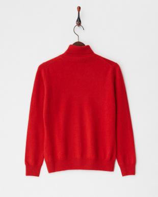 レッド  タートルネックセーター LLサイズ見る