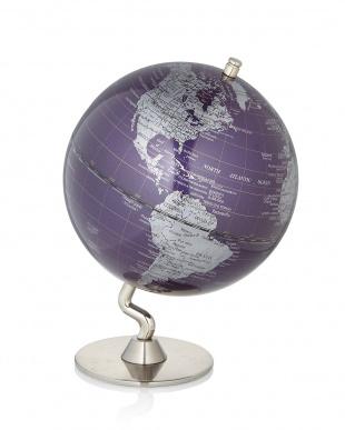 purple 卓上地球儀見る