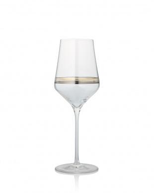 ゴールド・プラチナライン ラインズワイングラス ペアセット見る