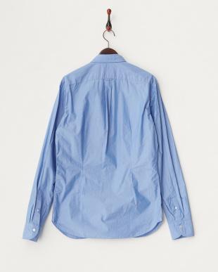 ブルー  フロントデザインシャツ見る