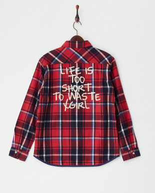 RED  BINDING PLAID SHIRT見る
