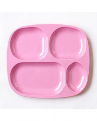 ピンク  メラミンキッズ4ルームプレート&カップ セット見る