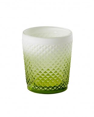 グリーン  Faceted グラスタンブラー2個セット見る
