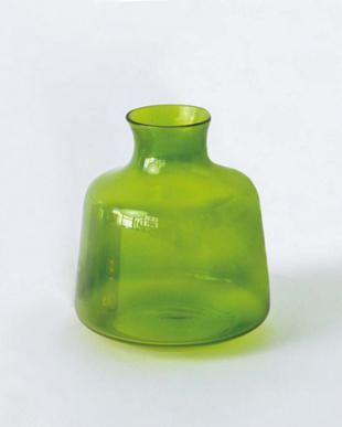 グリーン  GLASS フラワーベース シック(L)見る