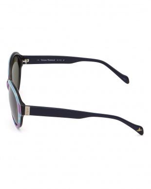 マーブル  テンプル柄デザインサングラス|WOMEN見る