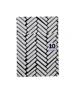 黒×白/angelfish2 イエロー  ノートカバー(外ポケット付き)+ペンケース セット見る