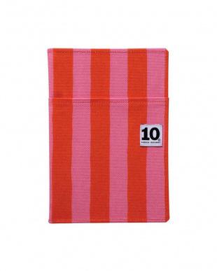 赤×ピンク/rhythm オレンジ  ノートカバー(外ポケット付き)+ペンケース セット見る