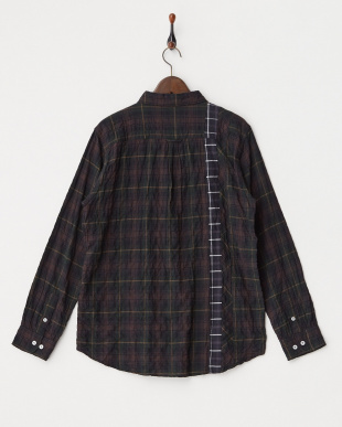 CHARCOAL  BERWUDA リメイク風ネルチェックシャツ見る