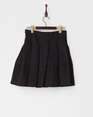 クロ 裾カットワークプリーツスカート(~10Y)見る