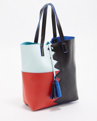 クロ  タッセル付きデザイン切り替えトートバッグ|WOMEN見る