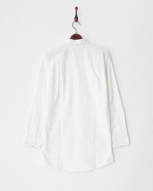 ホワイト  コットンツイルロングシャツ見る