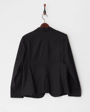 ブラック シルク混ジャケット見る