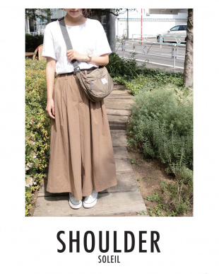 LIGHT GRAY  SHOULDER BAG見る