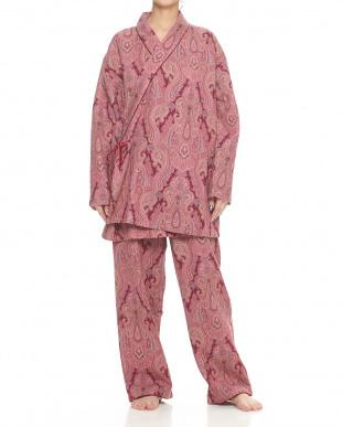 ピンク  ガウン婦人パジャマ見る