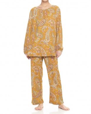 レッド  プルオーバー婦人パジャマ見る