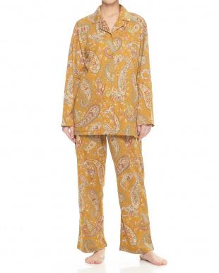 イエロー  開衿婦人パジャマ見る