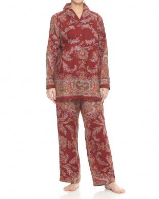 レッド コットン婦人パジャマ見る