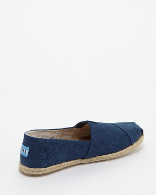 Navy Washed Canvas Rope Sole CLASSIC見る