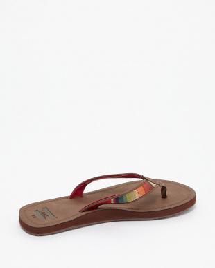 Brown Multi Textile SOLANA FLIP-FLOP見る