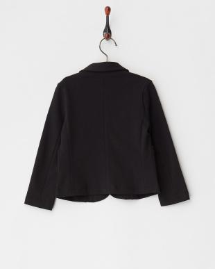 ブラック ポンチ長袖ジャケット|UNISEX見る