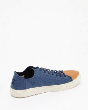 Navy Washed Canvas/Leather Toe LENOX見る
