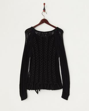 ブラック Laced Pullover ニット見る
