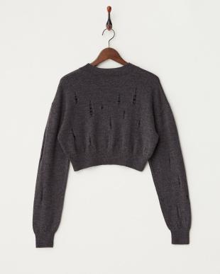 グレー Crop Sweater ニット見る