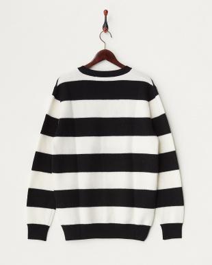 ブラック×ホワイト  BOILD BORDER KNIT セーター見る