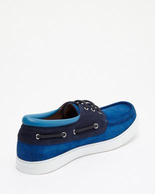 ブルー×ネイビー Middle Cut Deck Shoes見る