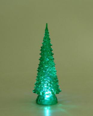 クリスマスツリー ライト付き 25cm グリーン見る
