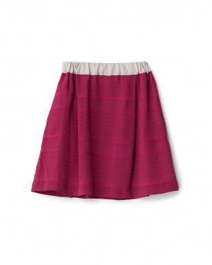 ピンク  シフォンスカート見る