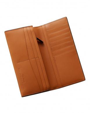 ネイビー  クレイトン社製ブライドルレザー長財布見る