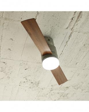 グレー  Modern Collection LEDシーリングファン 2 blades style見る