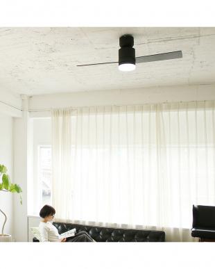 ブラック  Modern Collection LEDシーリングファン 2 blades style見る